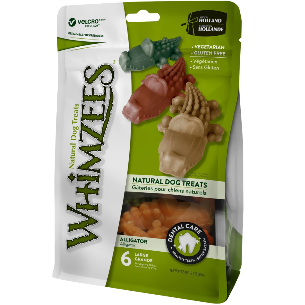 Whimzees Alligator Dental Dog Treats - Large (6 count)
