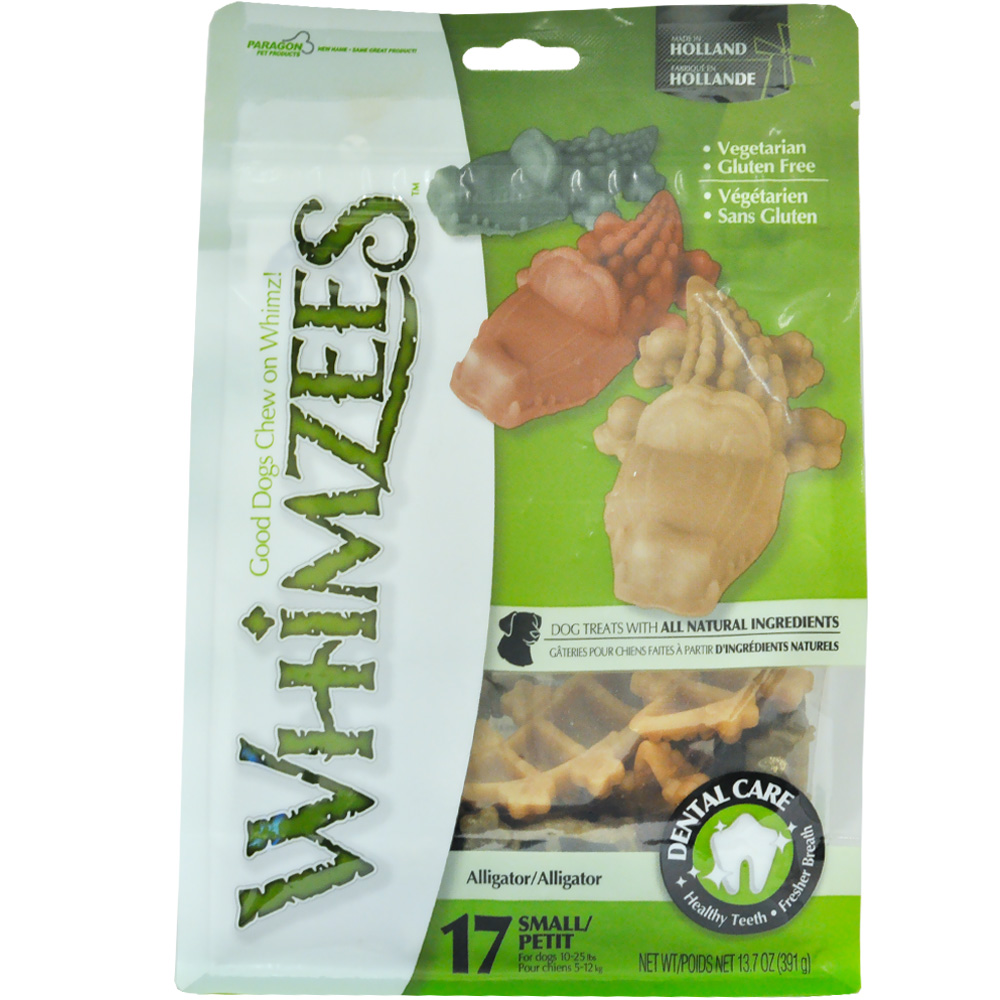 Whimzees Alligator Dental Dog Treats - Small (17 count)
