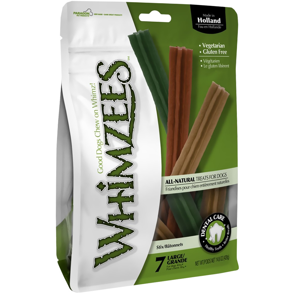 Whimzees Stix Dental Dog Treats - Large (7 count)