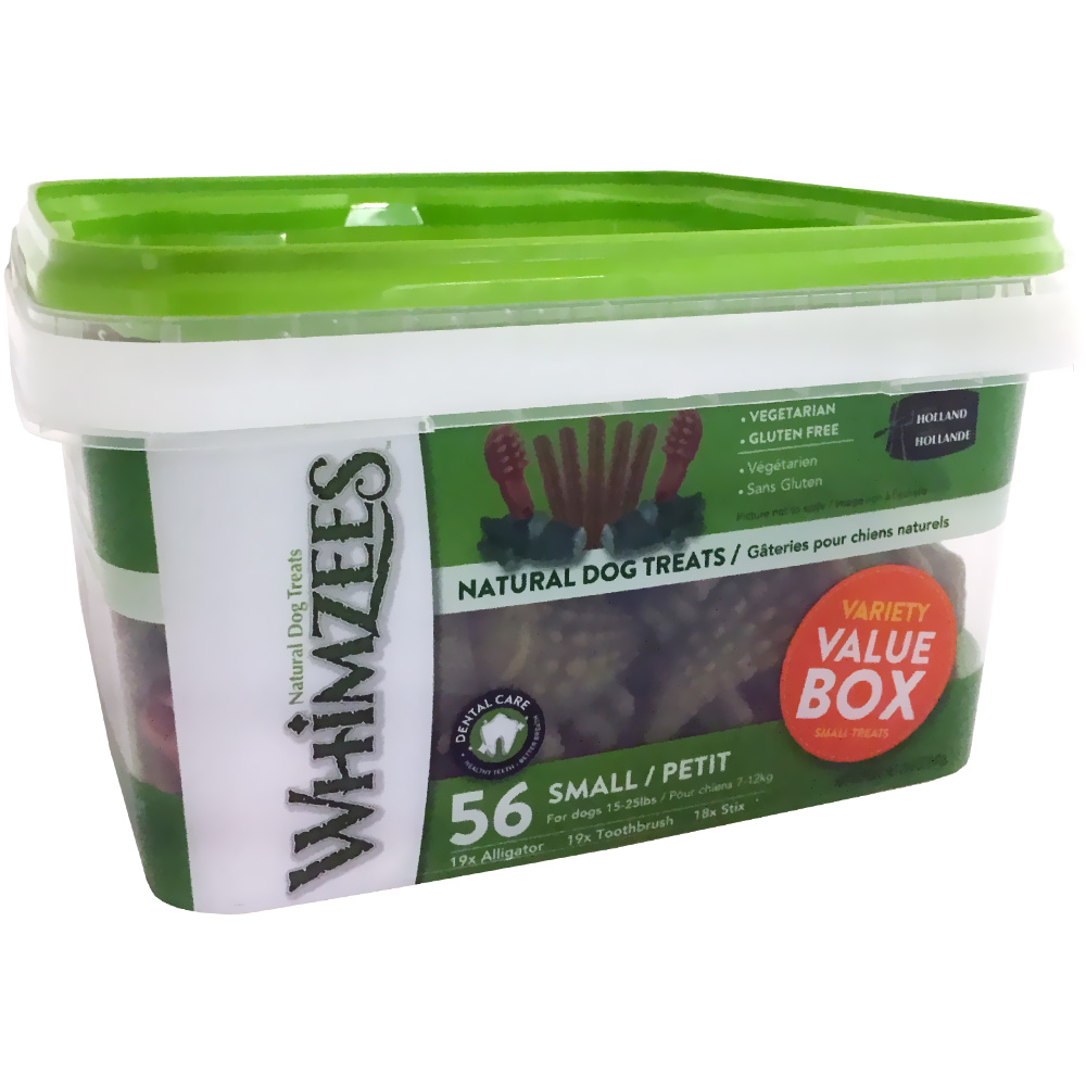 Whimzees Variety Value Box - Small (56 treats)