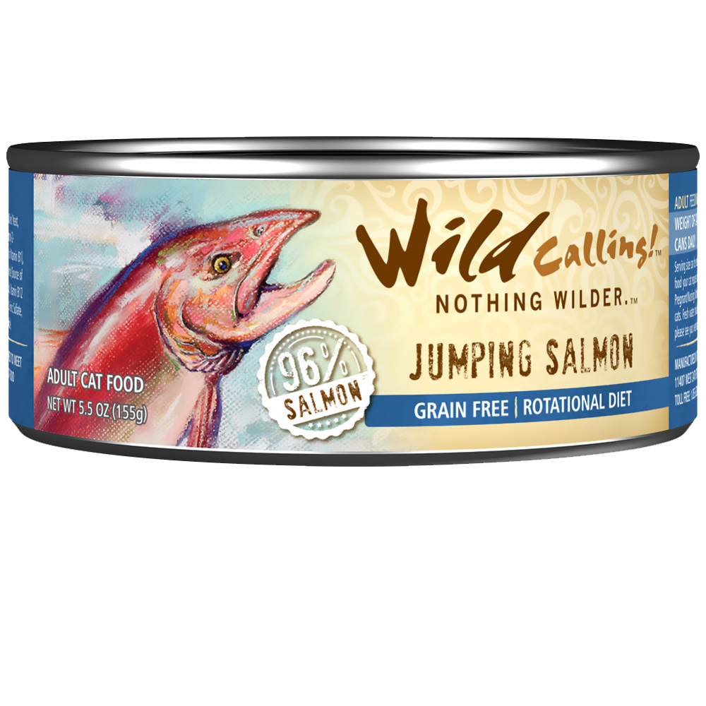 Wild Calling Jumping Salmon Canned Cat Food (5.5 oz)
