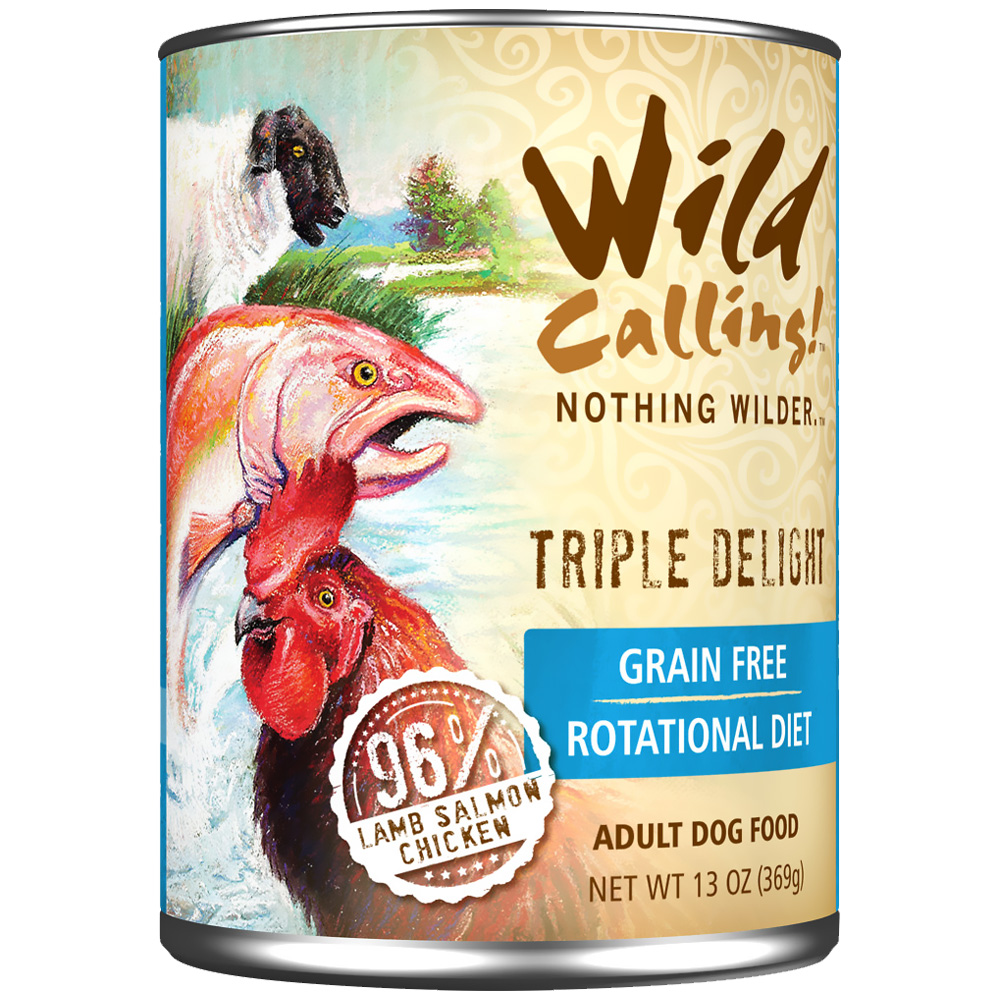 Wild Calling Triple Delight Canned Dog Food - Lamb/Salmon/Chicken (13 oz)