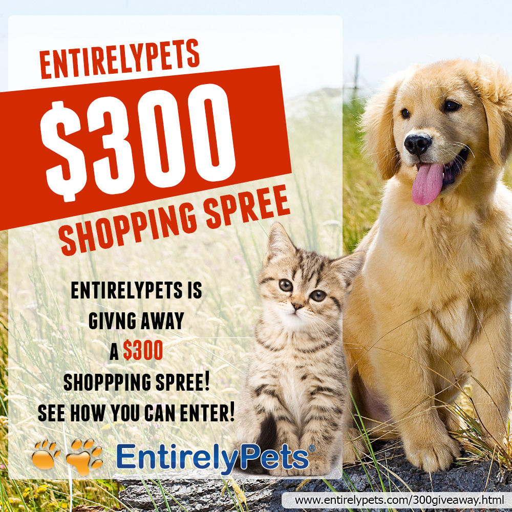 Win An EntirelyPets $300 Shopping Spree!