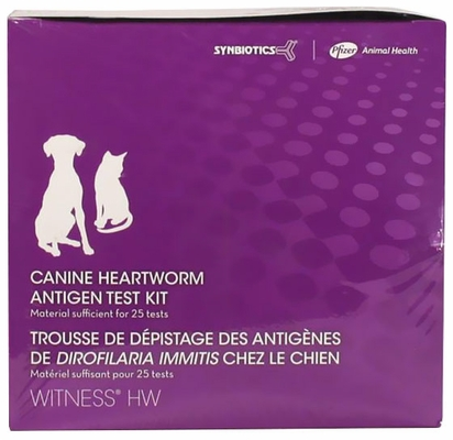 WITNESS HW Heartworm Canine/Feline Antigen Test Kit (25 Tests)