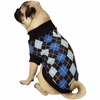 Zack & Zoey Argyle Prep Sweater Blue - X-SMALL