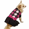 Zack & Zoey Argyle Prep Sweater Dress Pink - MEDIUM