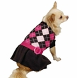 Zack & Zoey Argyle Prep Sweater Dress Pink - XX-SMALL