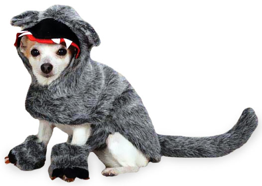 Zack & Zoey Big Bad Woof Costume Grey