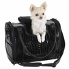 Zack & Zoey Croco Pet Carrier Black - Medium
