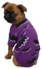 "Zack & Zoey Halloween Bat Tee Purple - S/M (14"")"