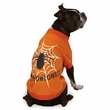 "Zack & Zoey Halloween Glow Web Tee Orange - XS (10"")"