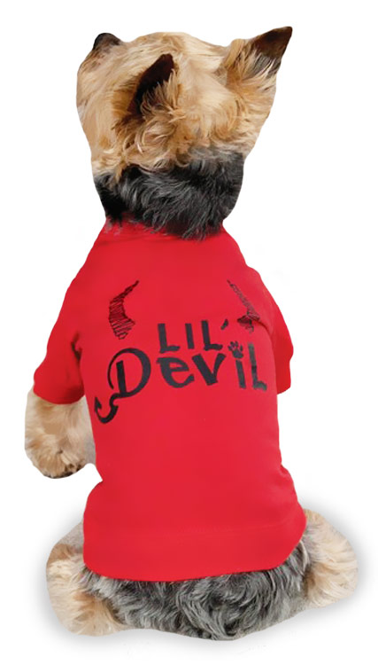 "Zack & Zoey Halloween Lil' Devil Tee Red - L (20"")"