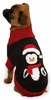 "Zack & Zoey Holiday Penguin Sweaters Black - L (20"")"