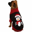 """Zack & Zoey Holiday Penguin Sweaters Black - S (12"""")"""