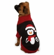 "Zack & Zoey Holiday Penguin Sweaters Black - XS (10"")"