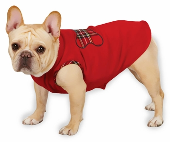 "Zack & Zoey Holiday Tartan Fleece Pullovers Red - XXS (8"")"