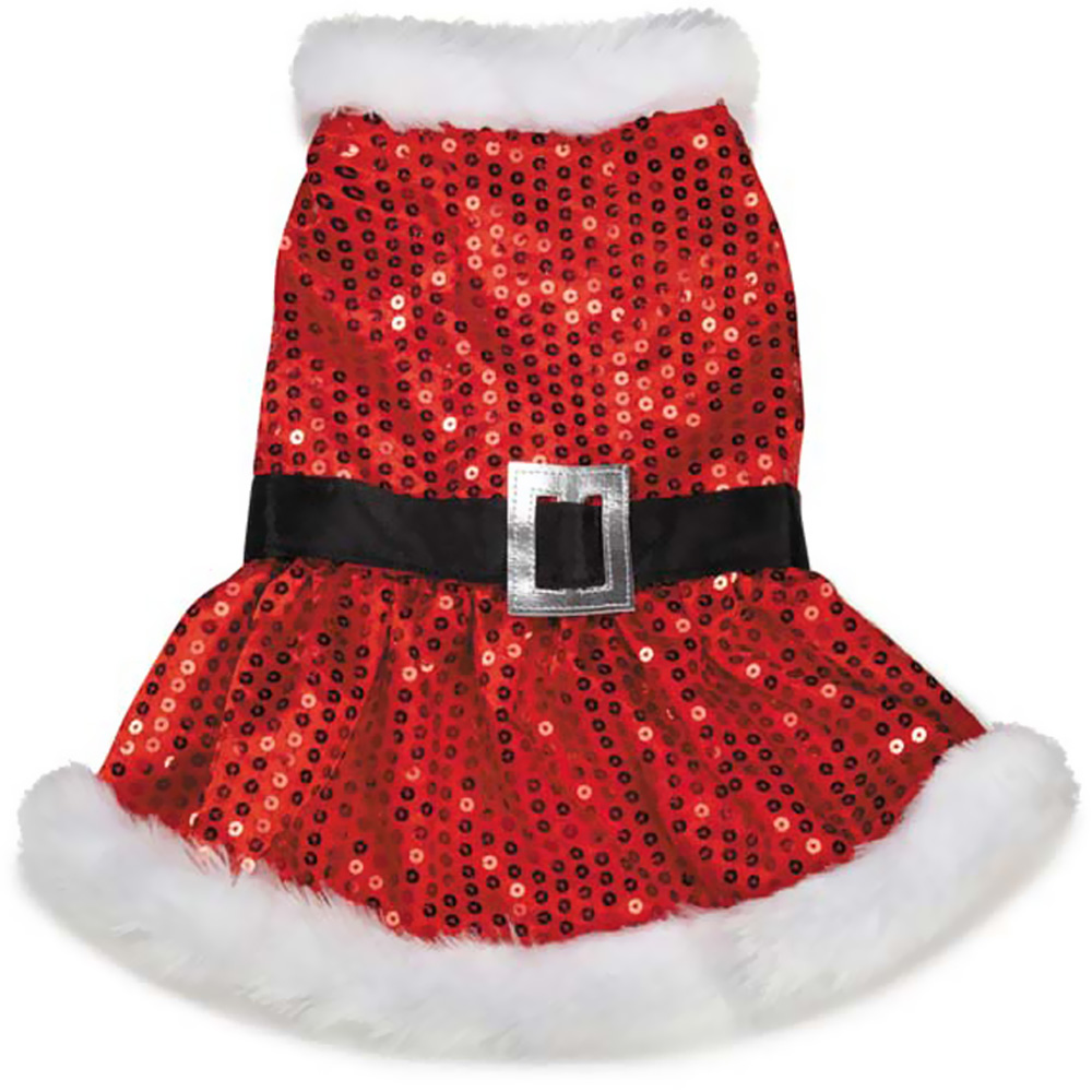 Zack & Zoey Mrs Claus Sequin Dress Red - MEDIUM