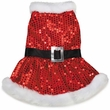 Zack & Zoey Mrs Claus Sequin Dress Red - X-SMALL