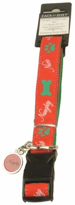 Zack & Zoey Naughty or Nice Collar 18-26in (RED)