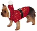 Zack & Zoey Santa Claus Sequin Hoodie Red