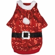 Zack & Zoey Santa Claus Sequin Hoodie Red - SMALL