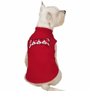 Zack & Zoey Sweetheart Scottie Fleece Vest Red - X-SMALL