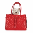 Zack & Zoey Vineyard Quilted Carrier Red - Small
