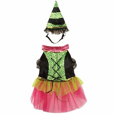 Zack & Zoey Witchy Business Costume Green - XSMALL