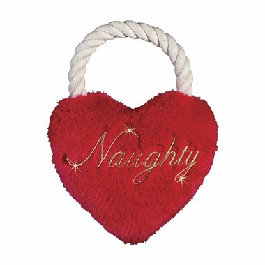 Zanies Holiday Heart Tug Naughty