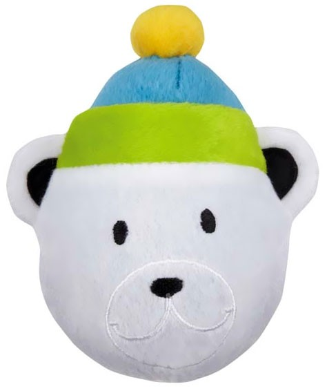 Zanies North Pole Pals Squeaker Ball - Bear