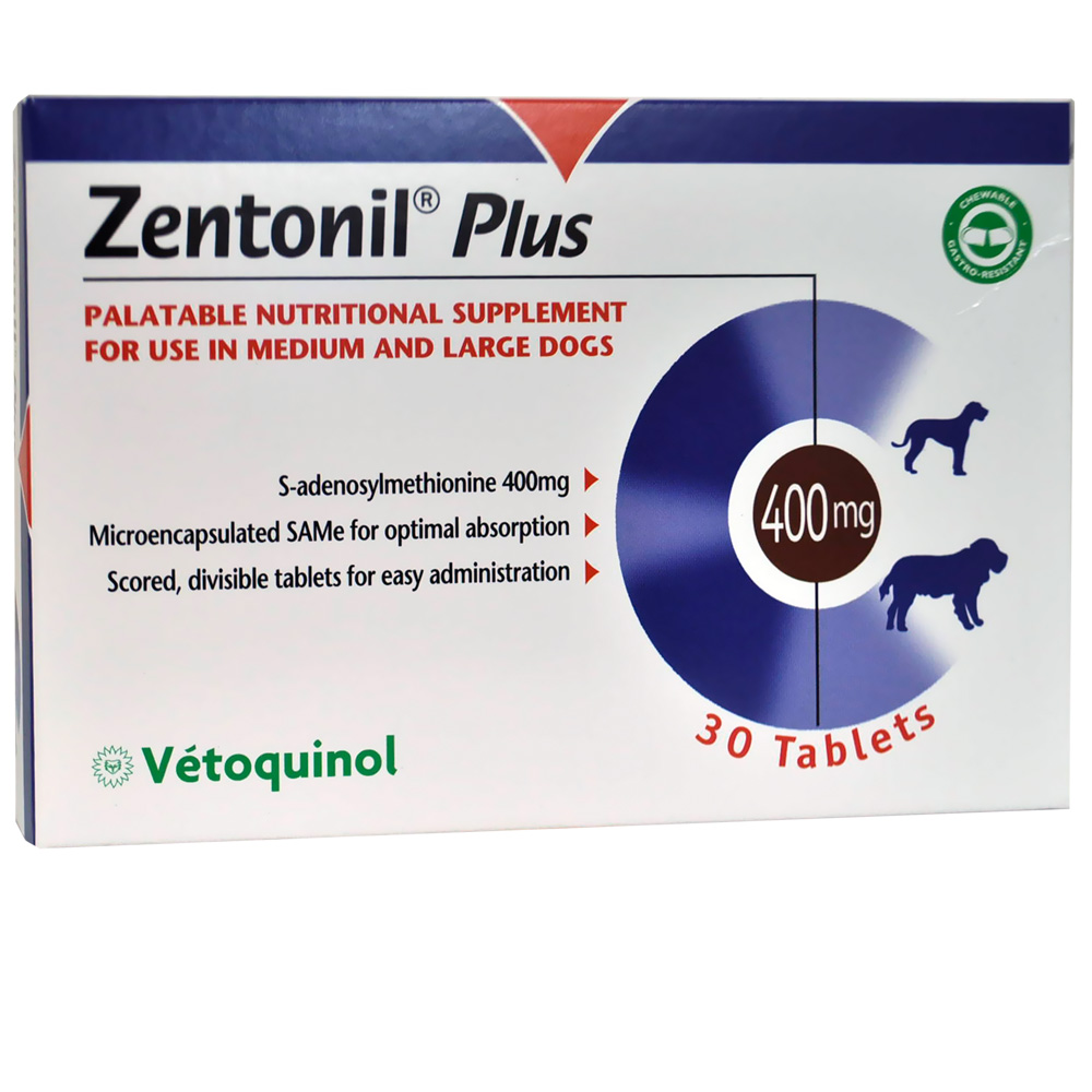 Zentonil Plus for Medium and Large Dogs 400mg (30 tablets)