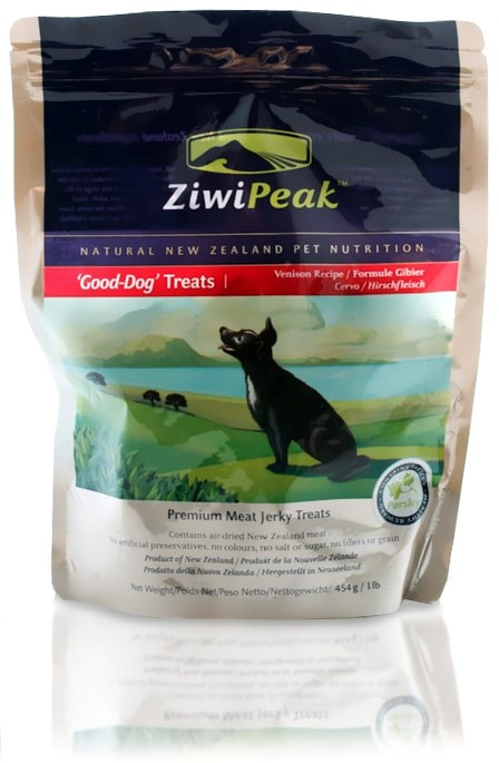 ZiwiPeak Good-Dog Venison Meat Jerky Treats (1 lb)