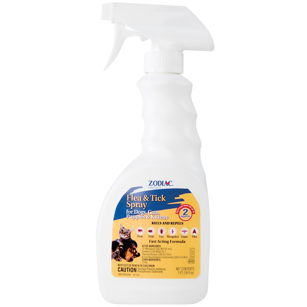 Zodiac Flea & Tick Spray for Dogs & Cats (16 oz)