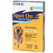 Zodiac Spot On Flea & Tick Control for Medium Dogs 31-60 lbs (4 pack)