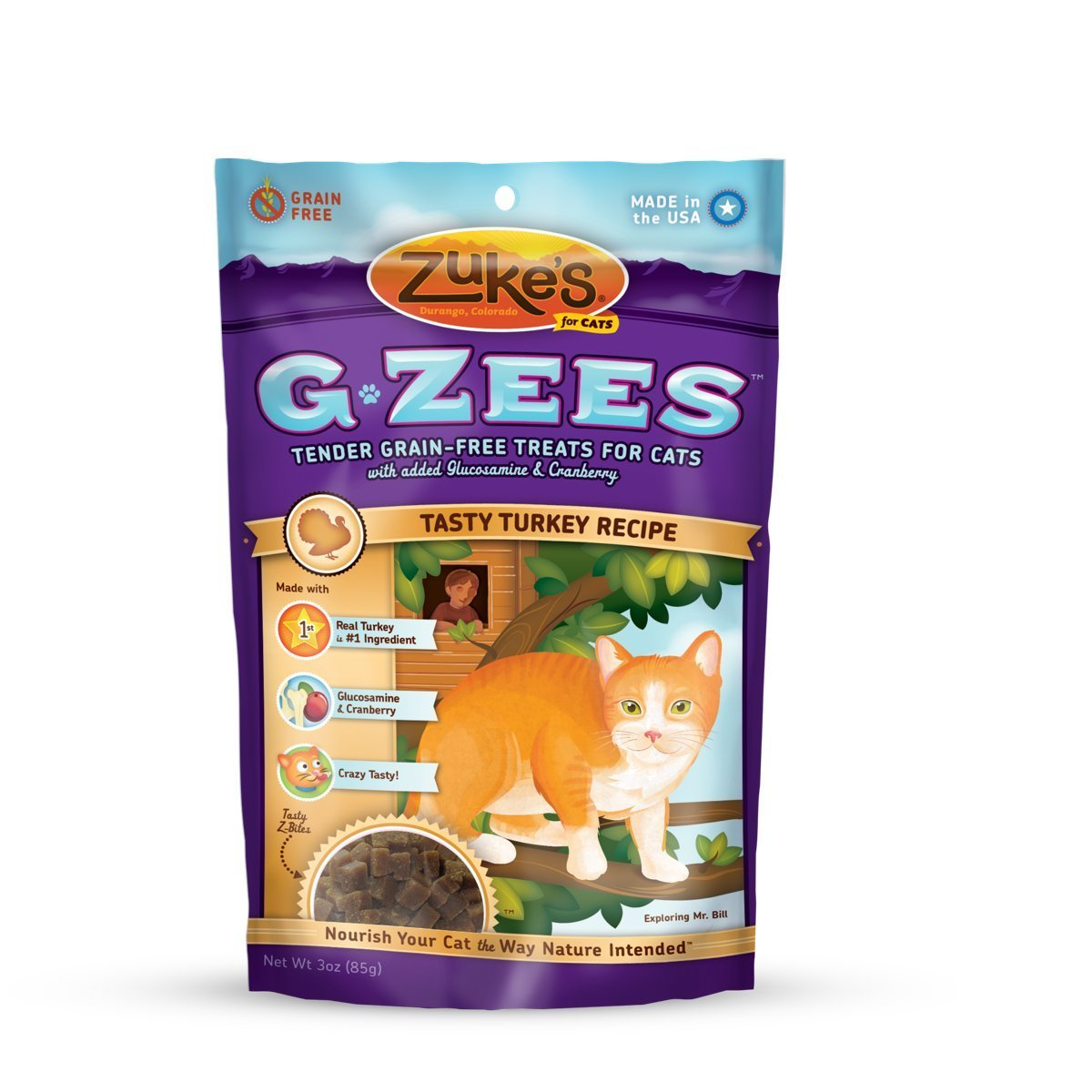 Zuke's G Zees Turkey Cat Treats (3 oz)