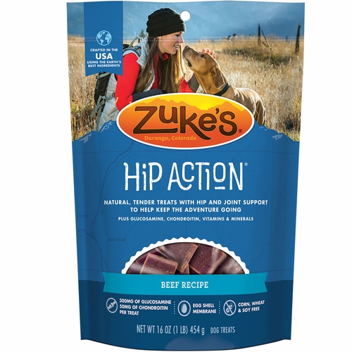 Zuke's Hip Action with Glucosamine and Chondroitin - BEEF (1 lb)