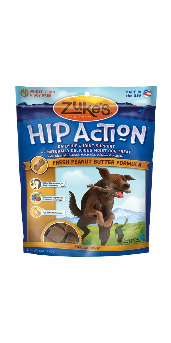 Zuke's Hip Action with Glucosamine and Chondroitin - PEANUT BUTTER (6 oz)