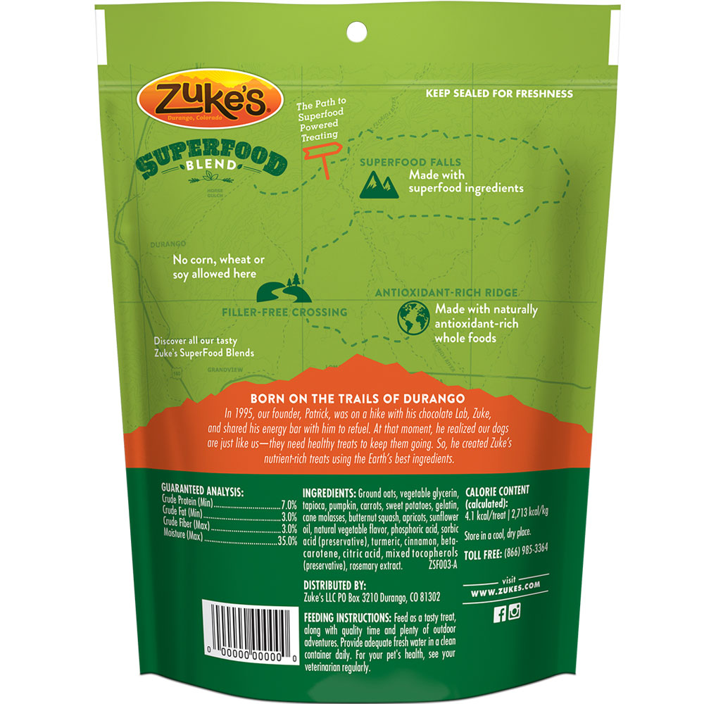 Zuke's Super Yummy Betas Dog Treats (6 oz)