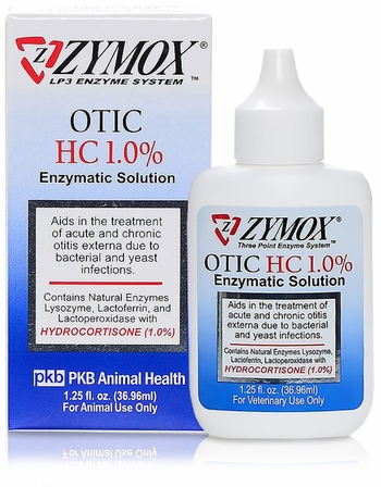 Zymox Otic 1 25oz With Hydrocortisone 1 0