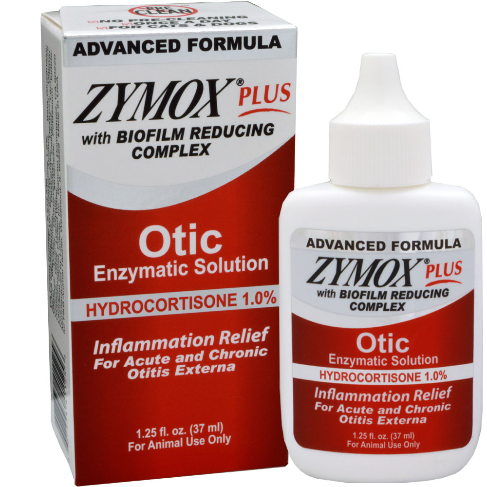Zymox PLUS Otic-HC Enzymatic Solution (1.25 oz)