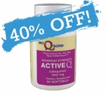 Active-Q Ubiquinol 300mg (30 Softgels) featuring Kaneka QH CoQ10