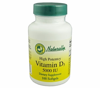 Vitamin D3 (as cholecalciferol) 5000 IU / 100 Softgels