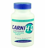 Carni H2Q L-Carnitine and Hydro-Q-Sorb CoQ10 / 60 Vegecapsules