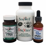 Complete Pet Care Combo (Liquid CoQ10 for Pets, Probiotics4Pets & Dog Vites)