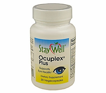 Ocuplex Plus Now with a Combined 12 mg of Lutein and Zeaxanthin (30 Vegecapsules / One Month Supply)