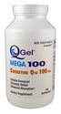 Q-Gel Mega 100mg<br>Hydrosoluble CoQ10<br>180 Softgels