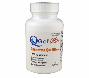 Q-Gel Ultra 60mg<br>Hydrosoluble CoQ10<br>60 Softgels