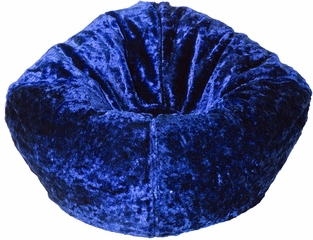 096 Royal Blue Chenille Beanbag