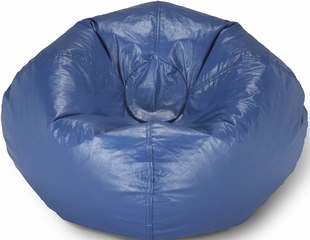 098 Blue Matte Bean Bag