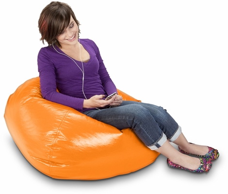 098 Orange Cheer Matte Bean Bag